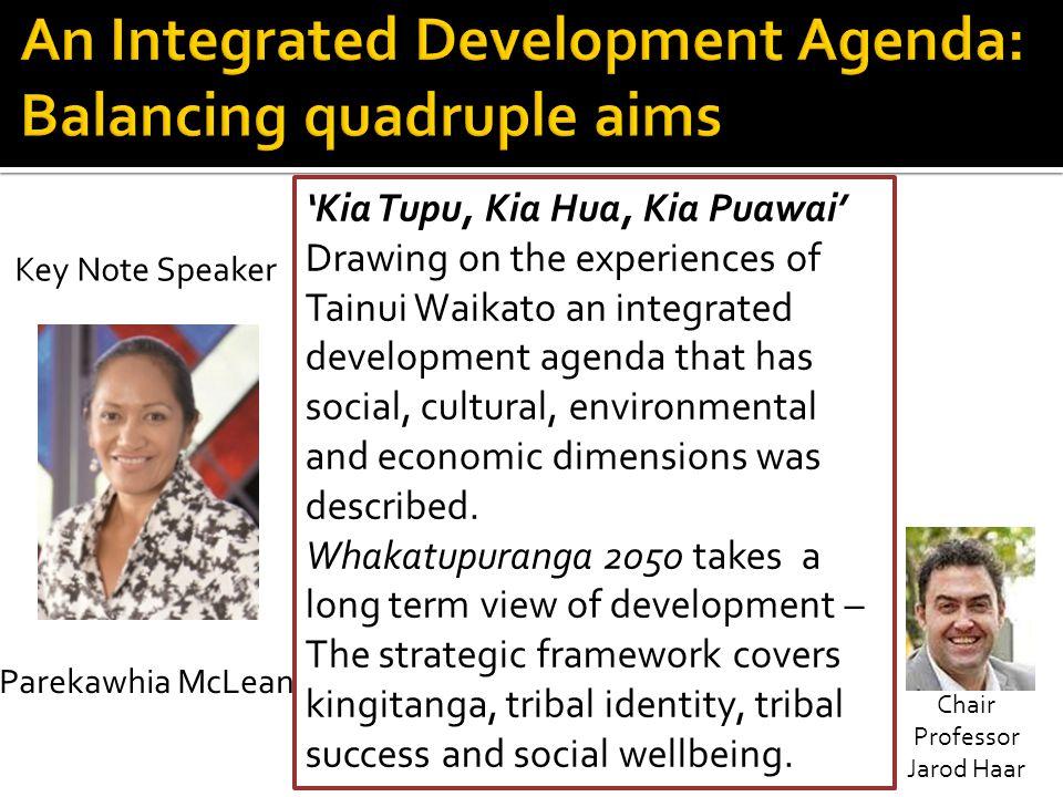 An Integrated Development Agenda: Balancing quadruple aims