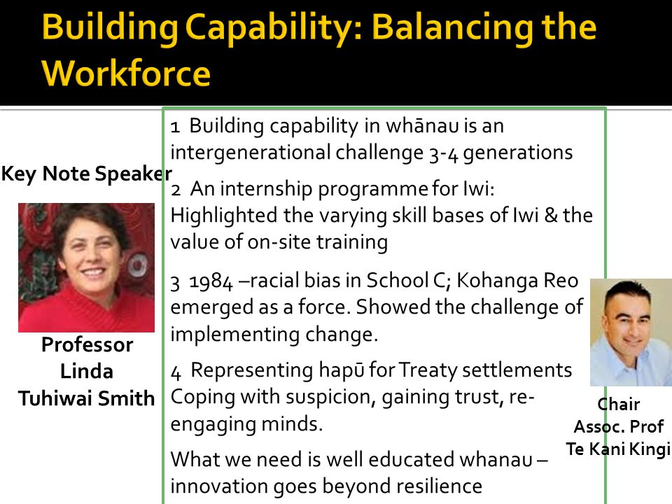 Building Capability: Balancing the Workforce