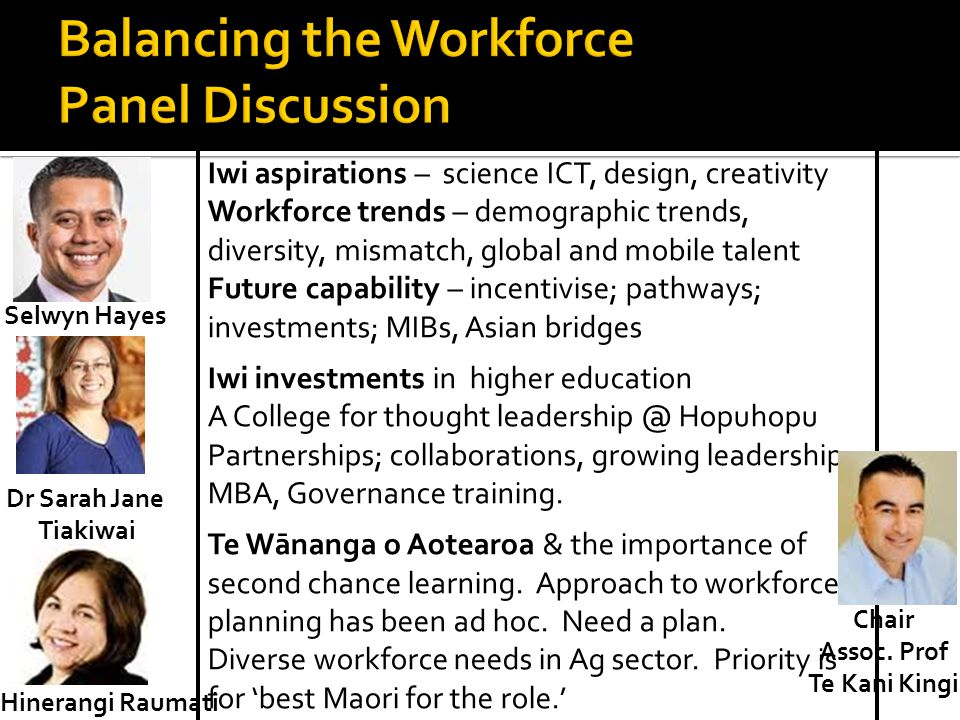 Balancing the Workforce Panel Discussion