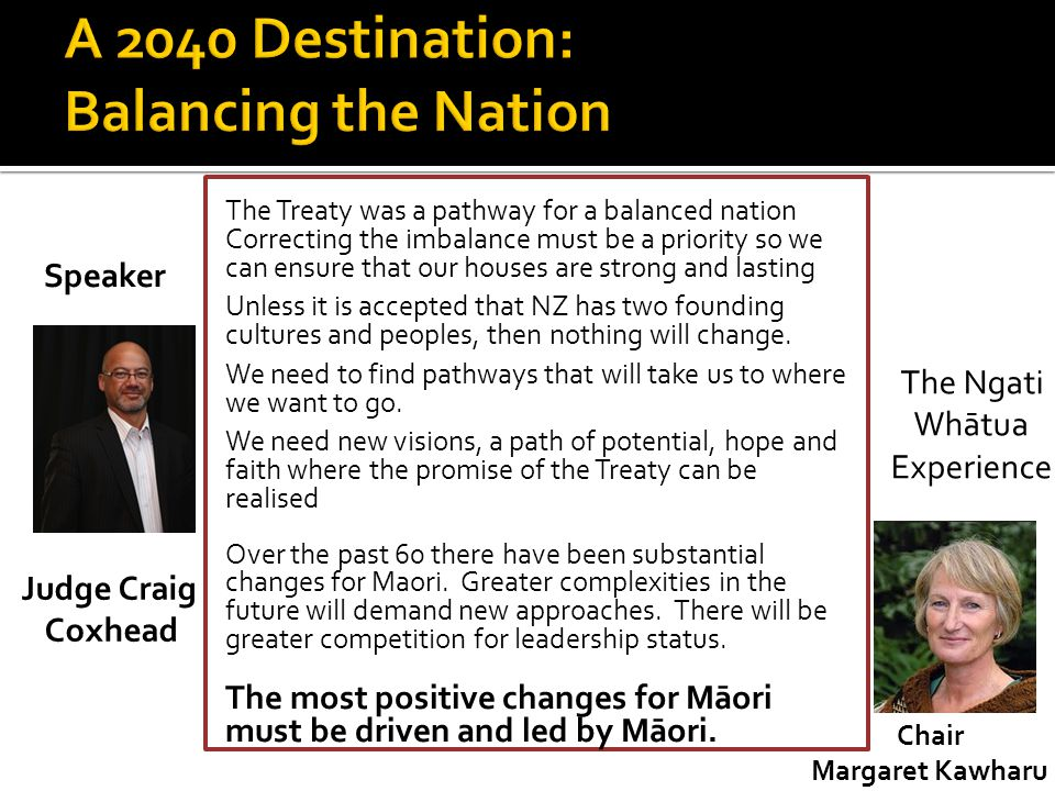 A 2040 Destination: Balancing the Nation