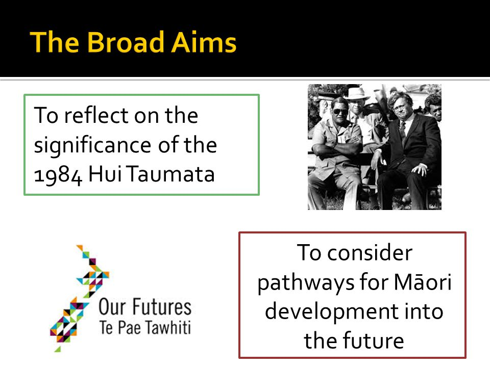 To consider pathways for Māori development into the future