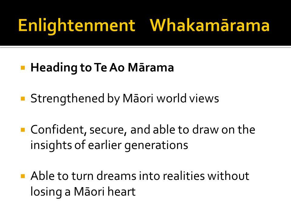 Enlightenment Whakamārama