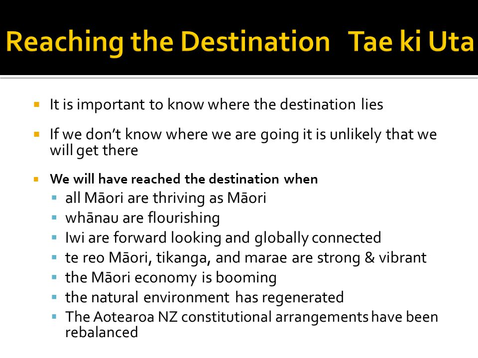 Reaching the Destination Tae ki Uta
