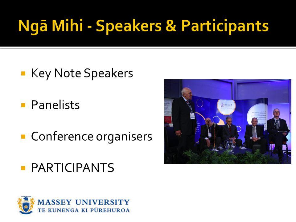 Ngā Mihi - Speakers & Participants