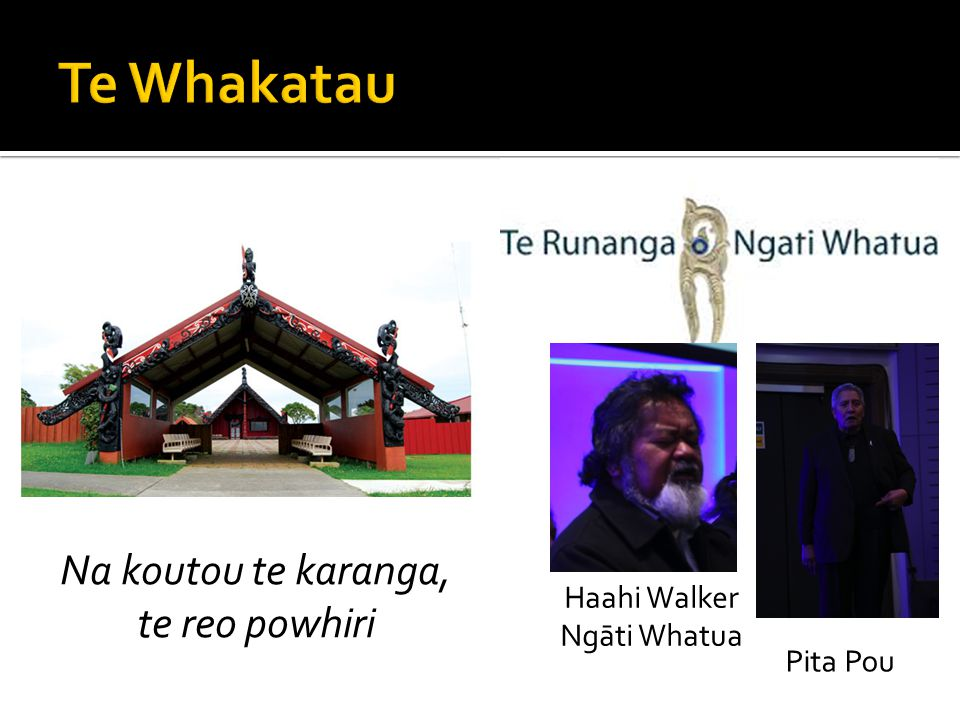 Te Whakatau Na koutou te karanga, te reo powhiri Haahi Walker