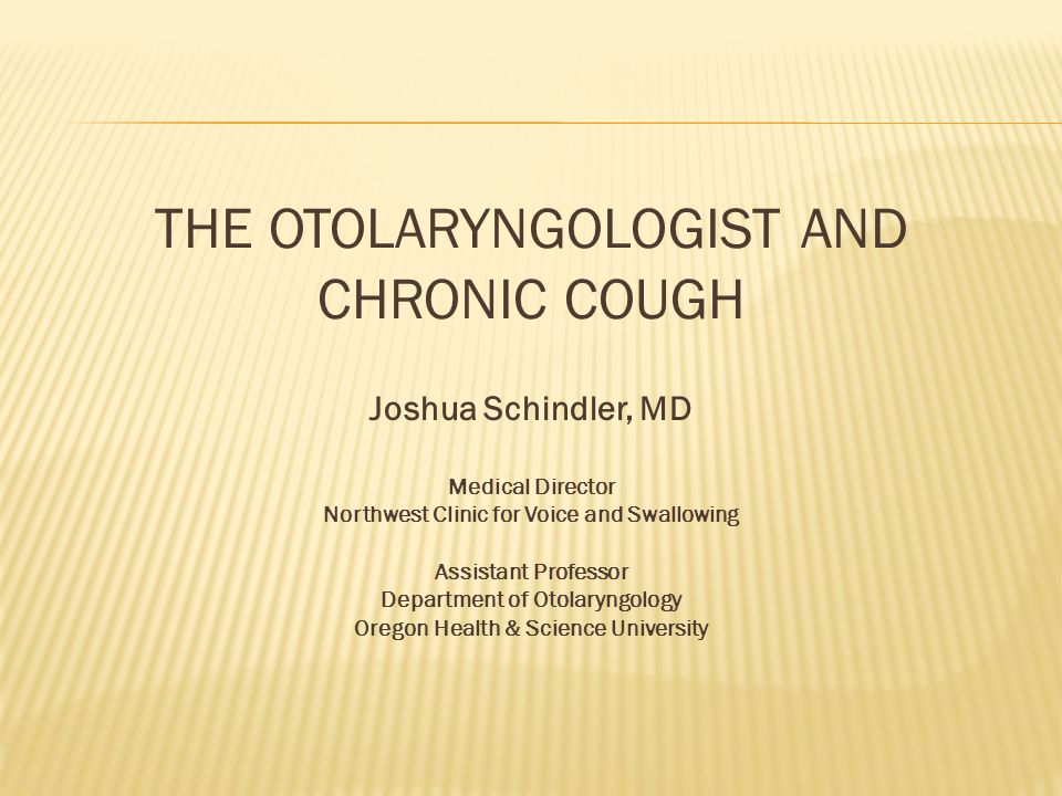 The Otolaryngologist and Chronic Cough