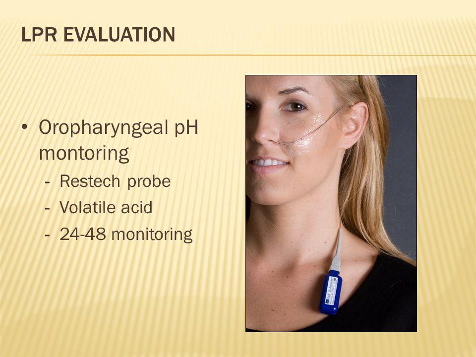 Oropharyngeal pH montoring