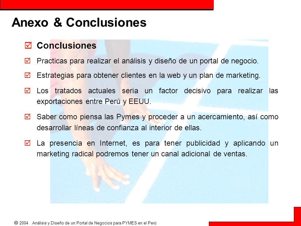 Anexo & Conclusiones Conclusiones