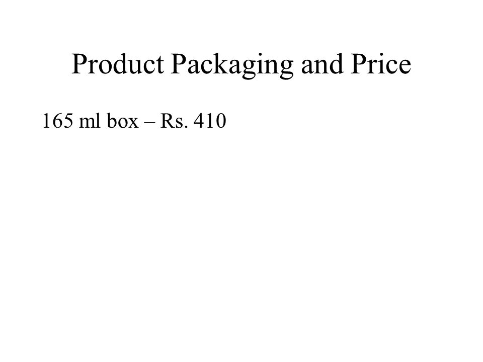 Product Packaging and Price