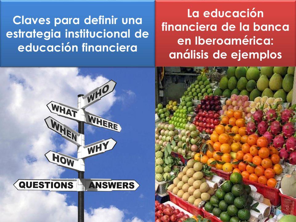 Claves para definir una estrategia institucional de educación financiera