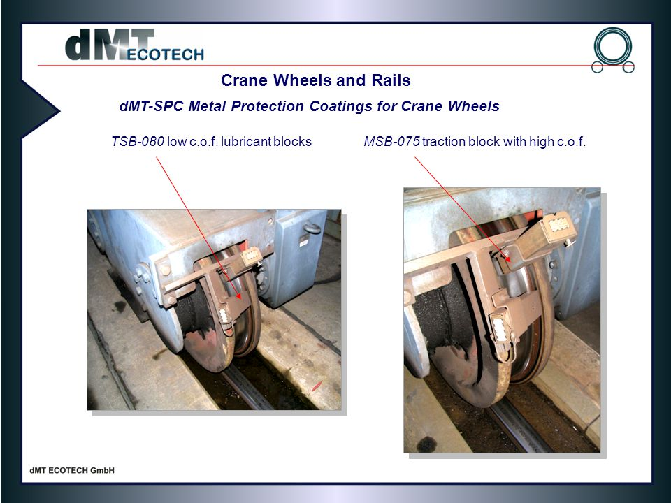 dMT-SPC Metal Protection Coatings for Crane Wheels