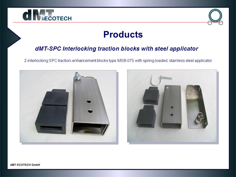 Products dMT-SPC Interlocking traction blocks with steel applicator