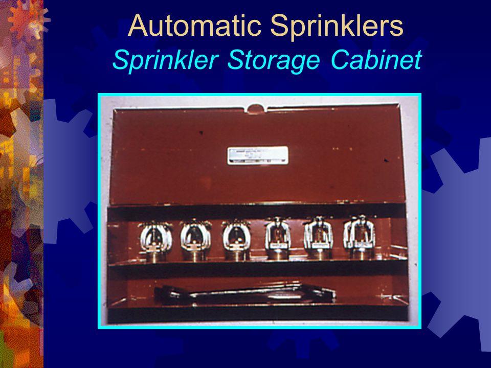 Automatic Sprinklers Sprinkler Storage Cabinet