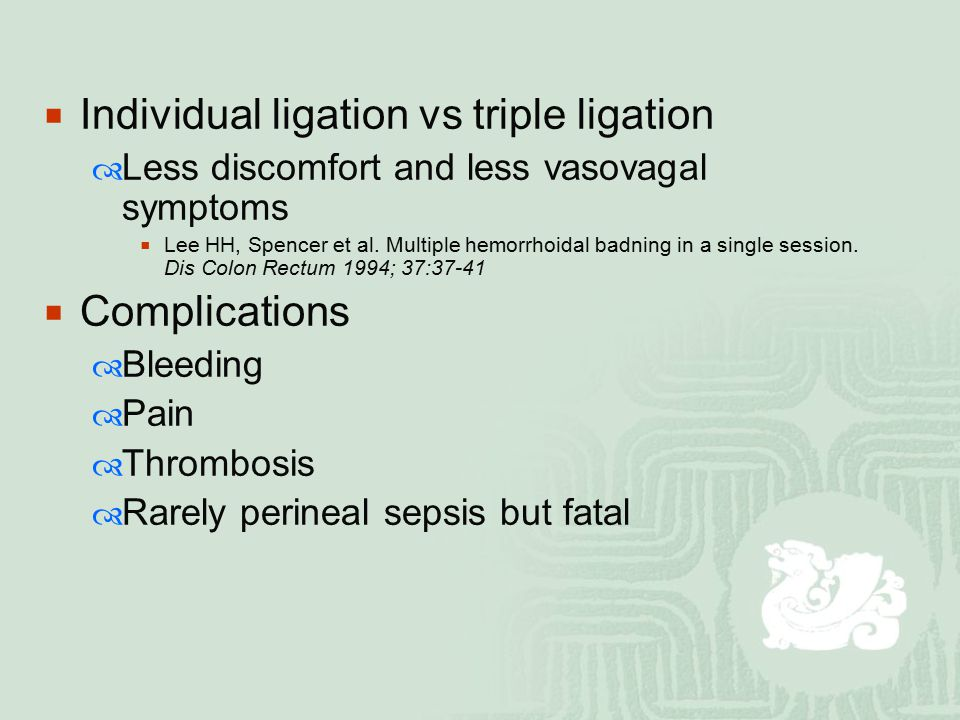 Individual ligation vs triple ligation