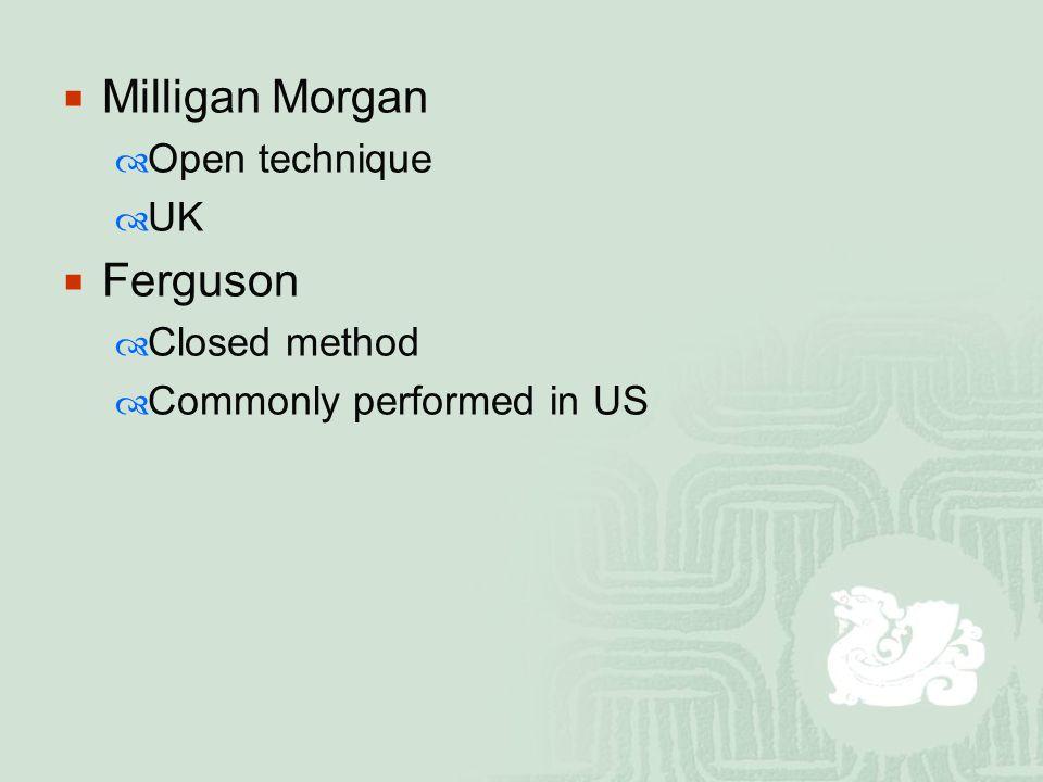 Milligan Morgan Ferguson Open technique UK Closed method