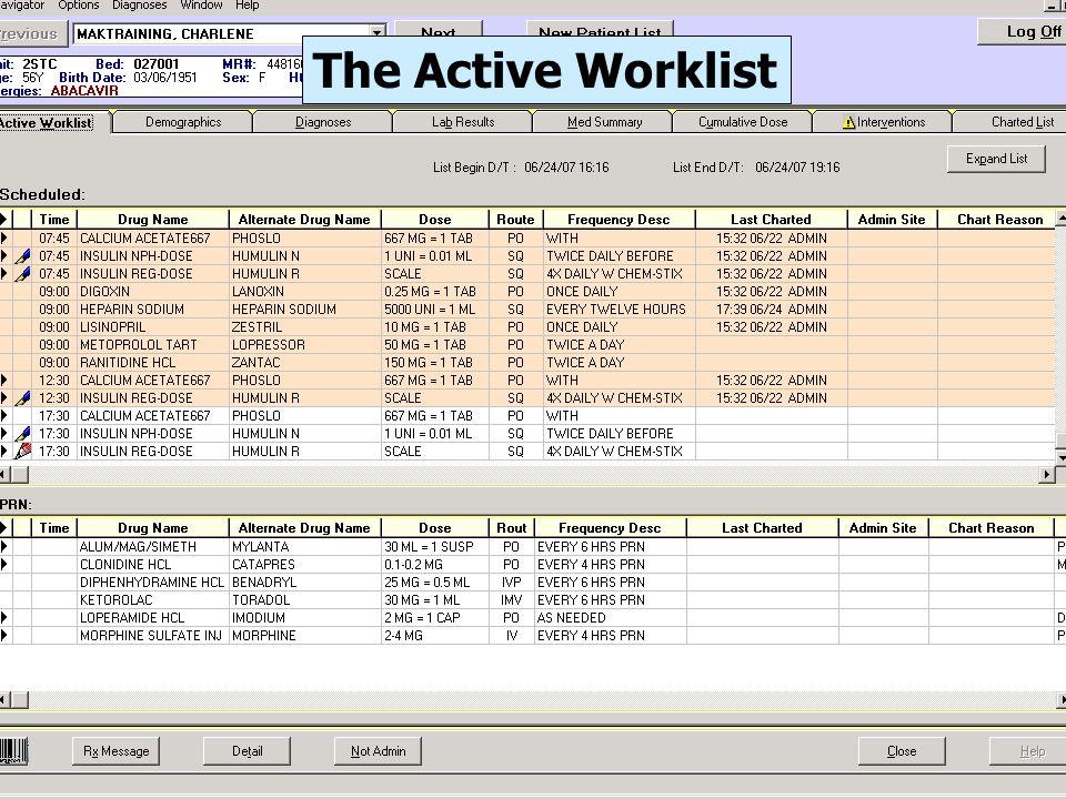 The Active Worklist