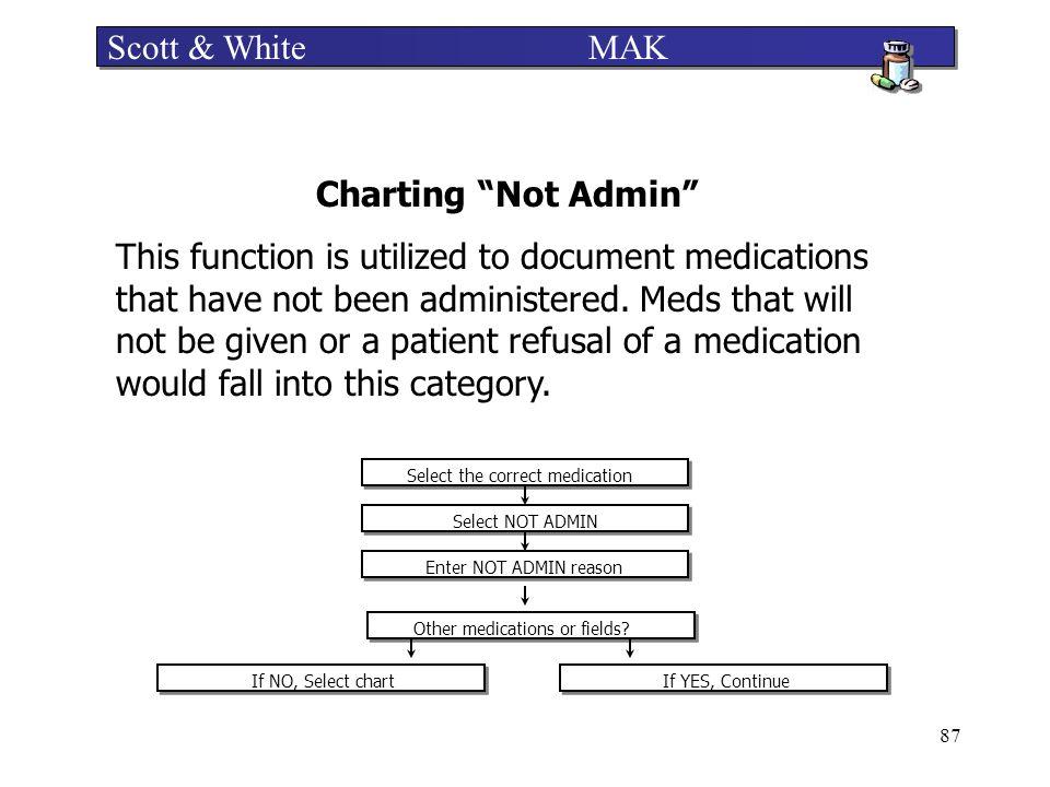 Scott & White MAK Charting Not Admin