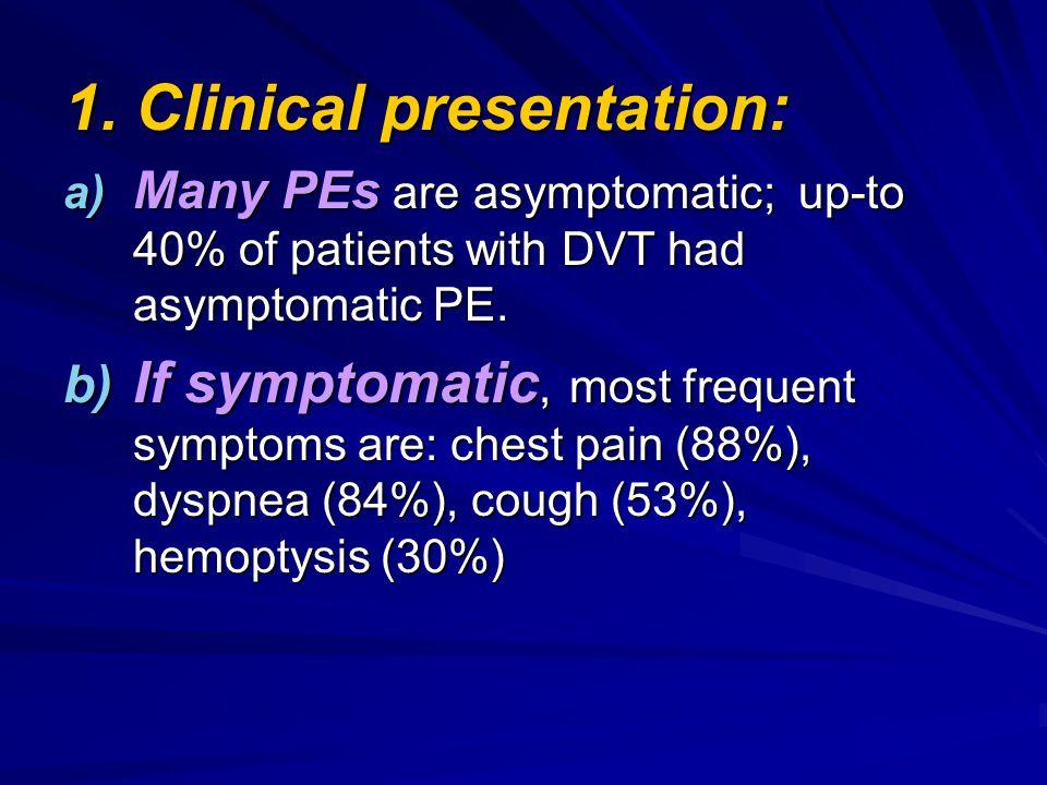 1. Clinical presentation: