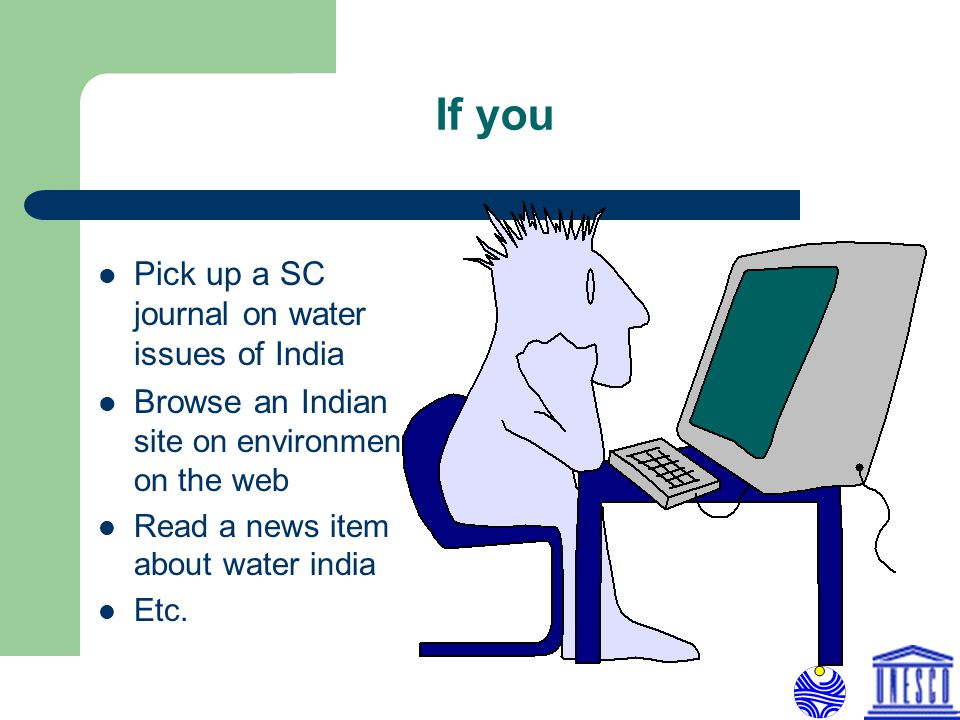 If you Pick up a SC journal on water issues of India