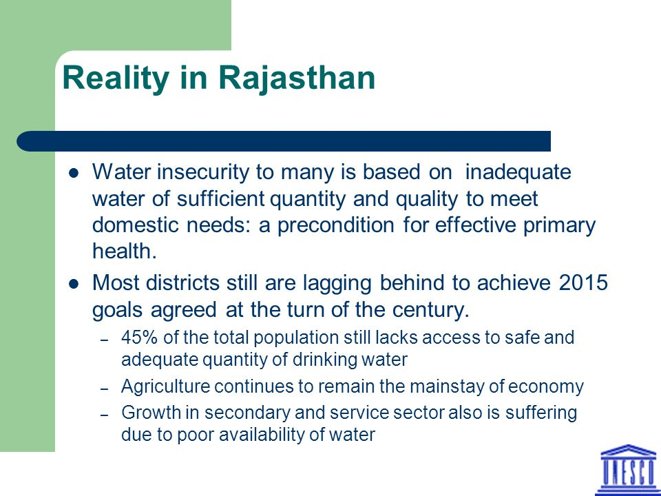 Reality in Rajasthan