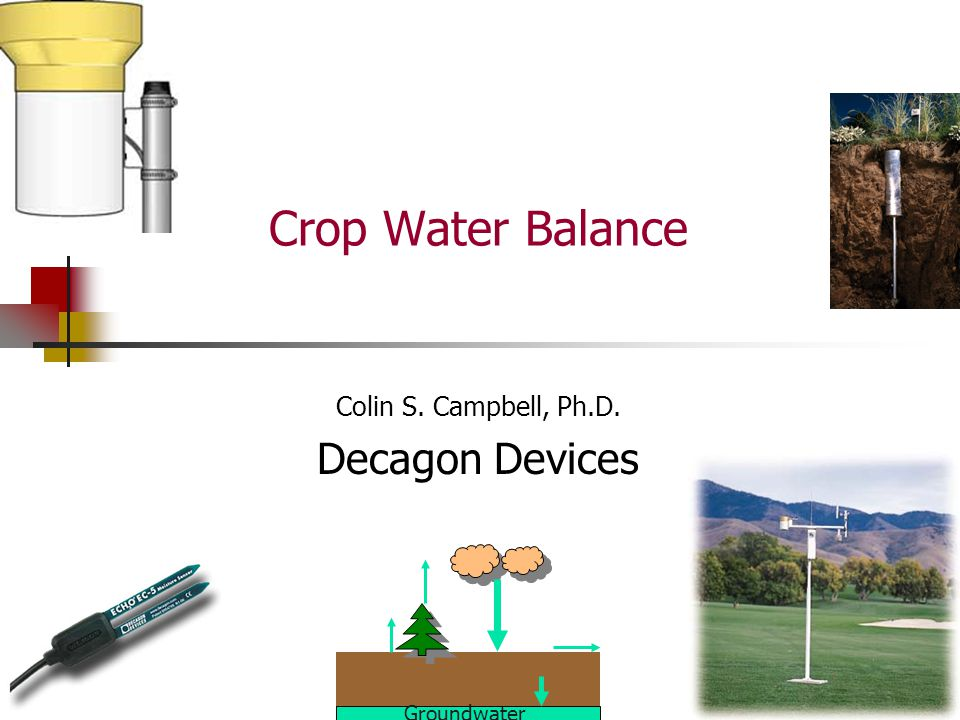 Colin S. Campbell, Ph.D. Decagon Devices