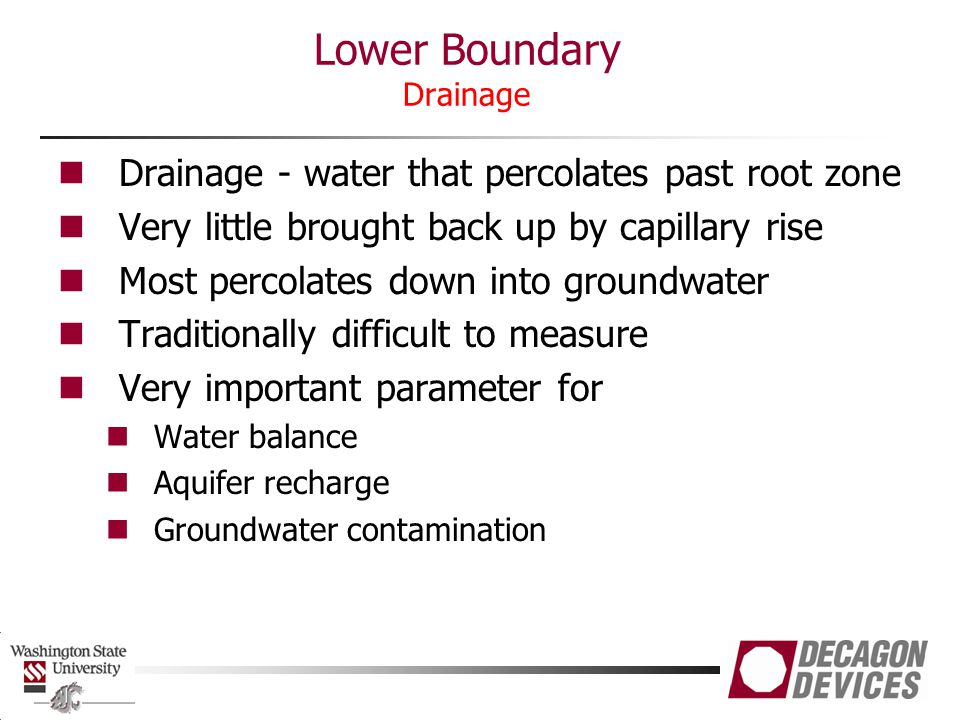 Lower Boundary Drainage