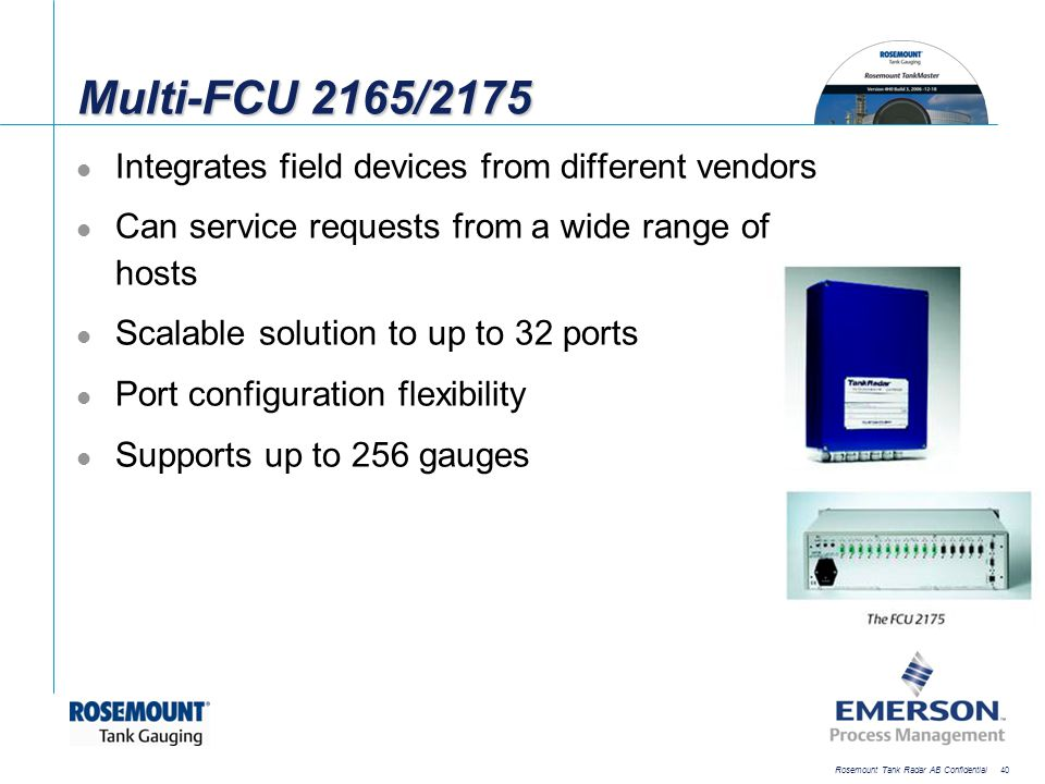 Multi-FCU 2165/2175 Integrates field devices from different vendors