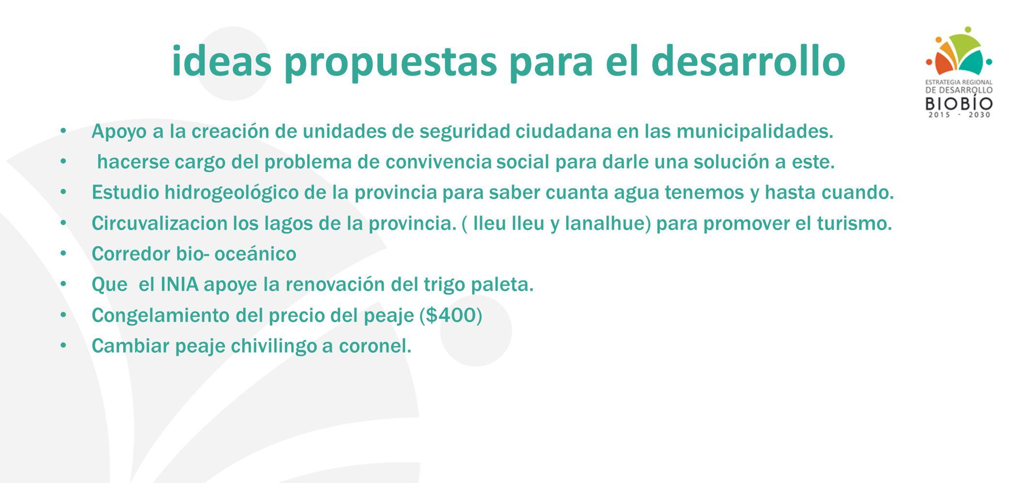 ideas propuestas para el desarrollo