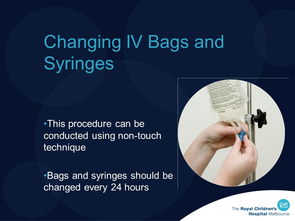 Changing IV Bags and Syringes