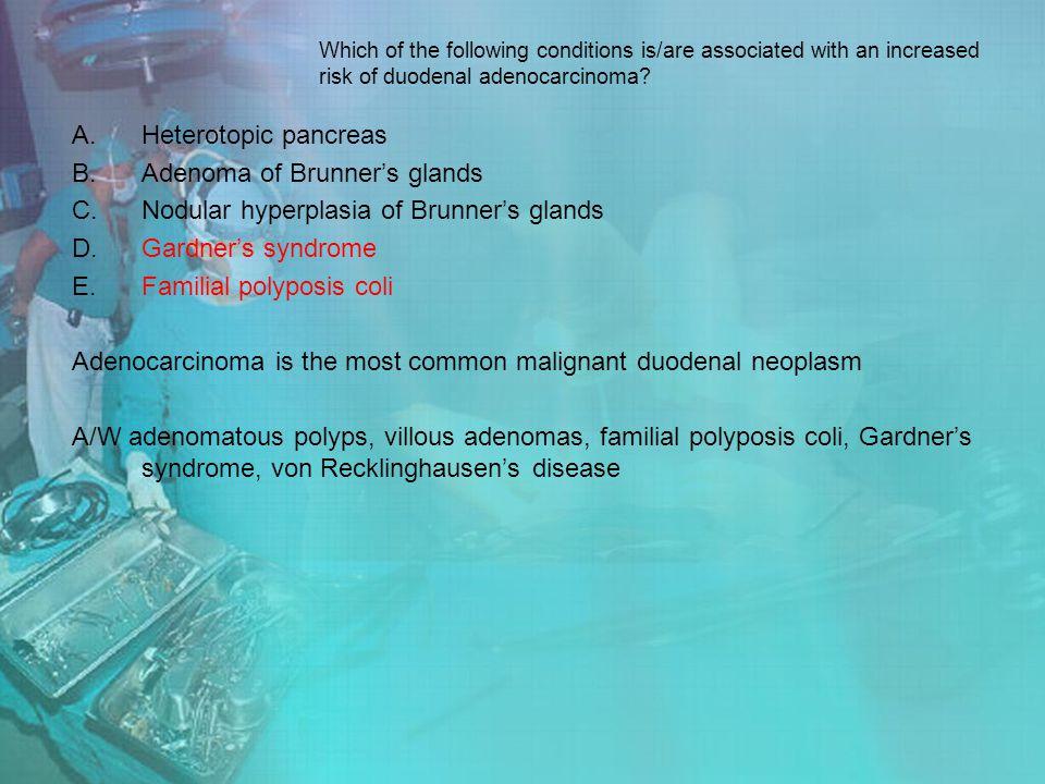 Adenoma of Brunner's glands Nodular hyperplasia of Brunner's glands