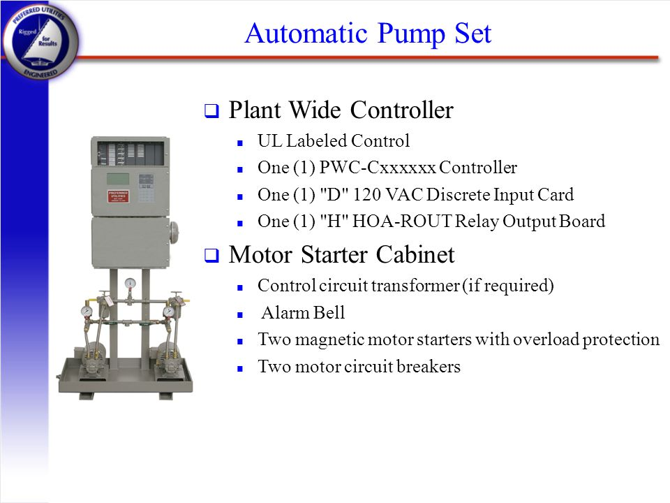 Automatic Pump Set Plant Wide Controller Motor Starter Cabinet