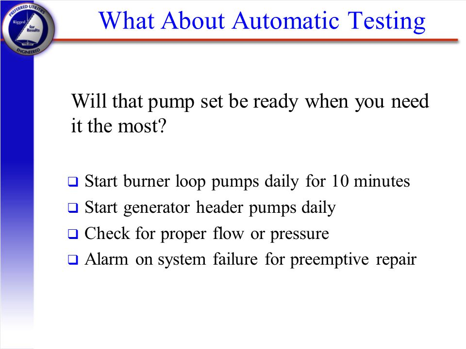 What About Automatic Testing
