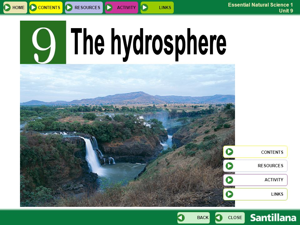 The hydrosphere CONTENTS HOME CONTENTS RESOURCES ACTIVITY LINKS