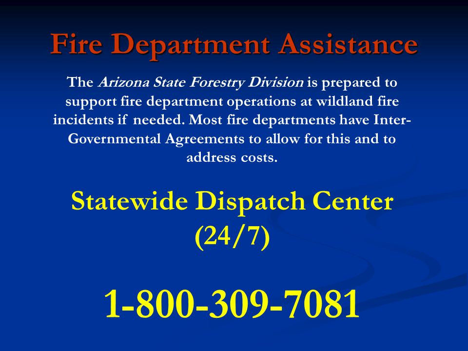 Fire Department Assistance