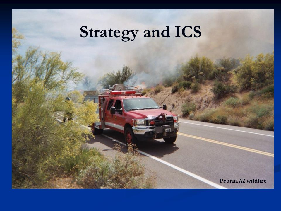 Strategy and ICS Peoria, AZ wildfire