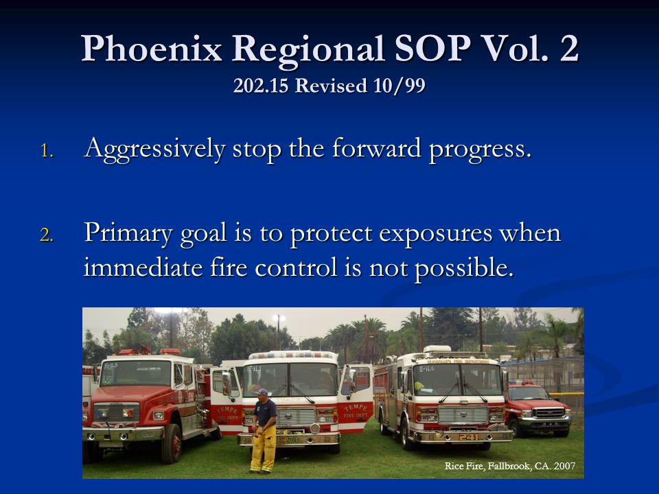Phoenix Regional SOP Vol. 2 202.15 Revised 10/99