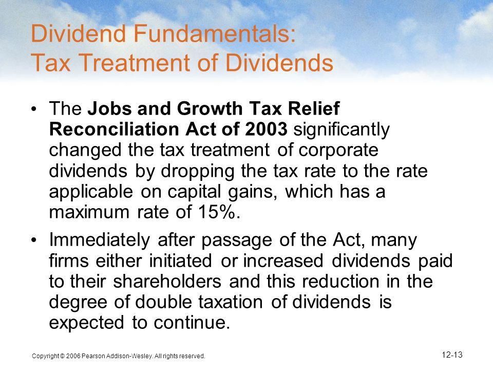 Dividend Fundamentals: Tax Treatment of Dividends