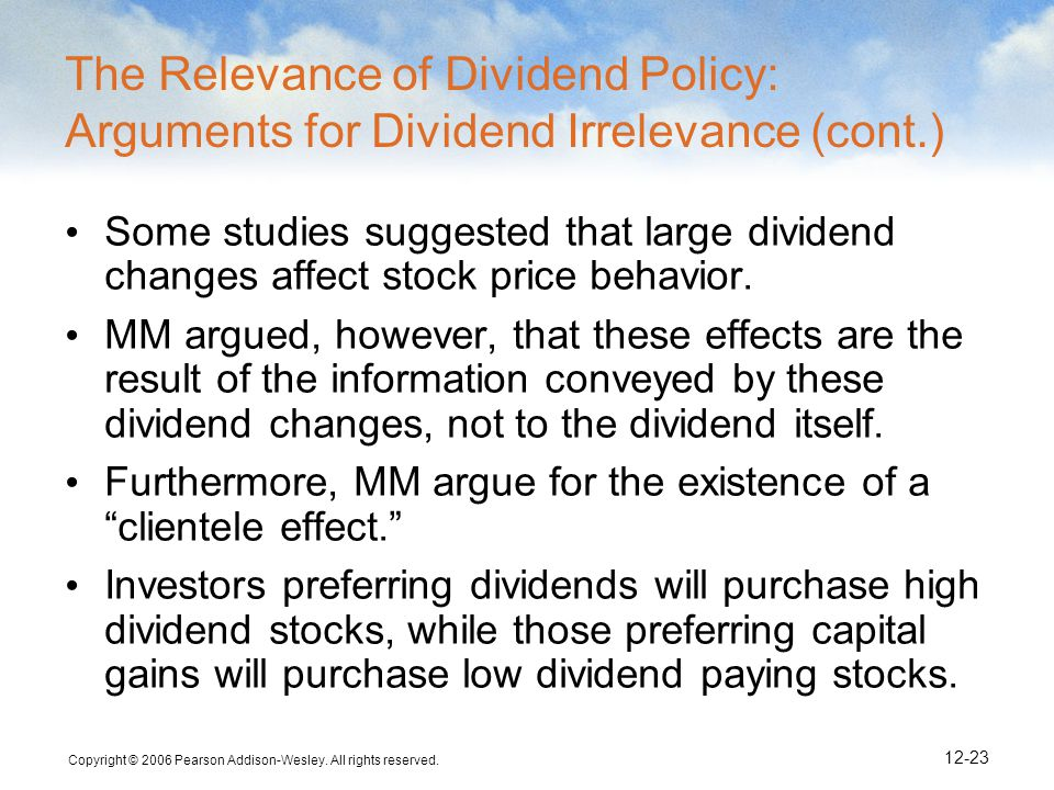 dividend policy and stock price behaviour Dividend policy and behaviour and security price reaction to announcement of dividends in an emerging market : a study of companies listed on the dhaka stock exchange.