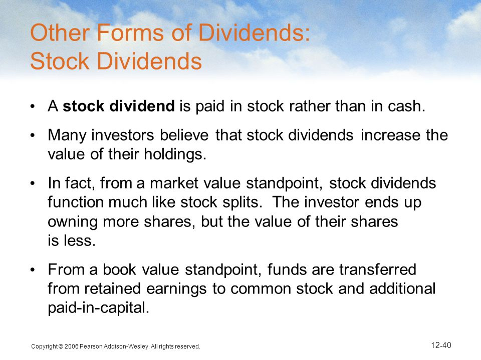 Other Forms of Dividends: Stock Dividends