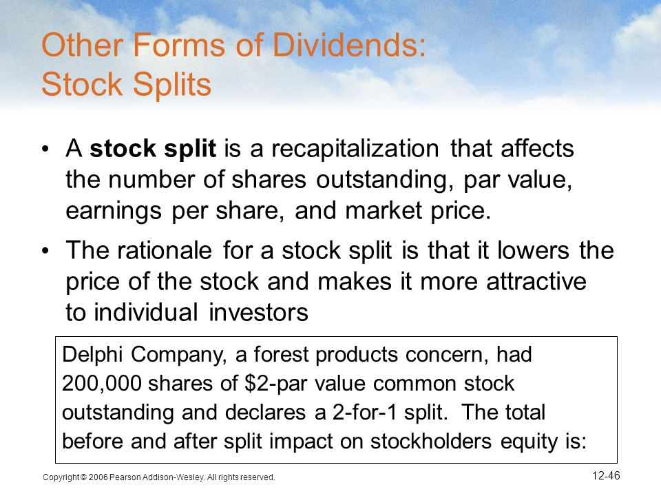 Other Forms of Dividends: Stock Splits