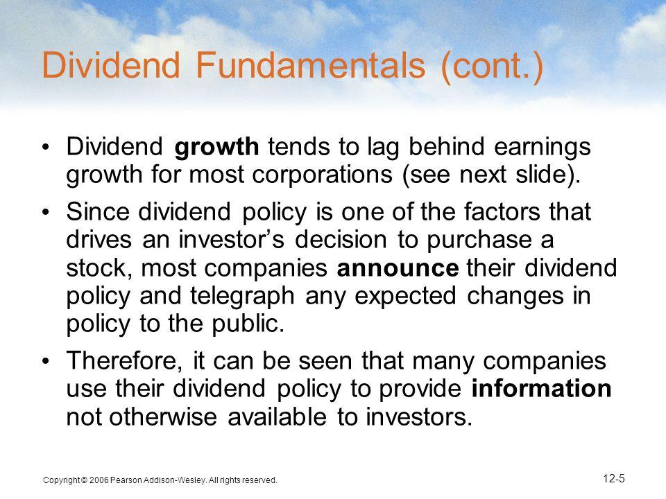 Dividend Fundamentals (cont.)