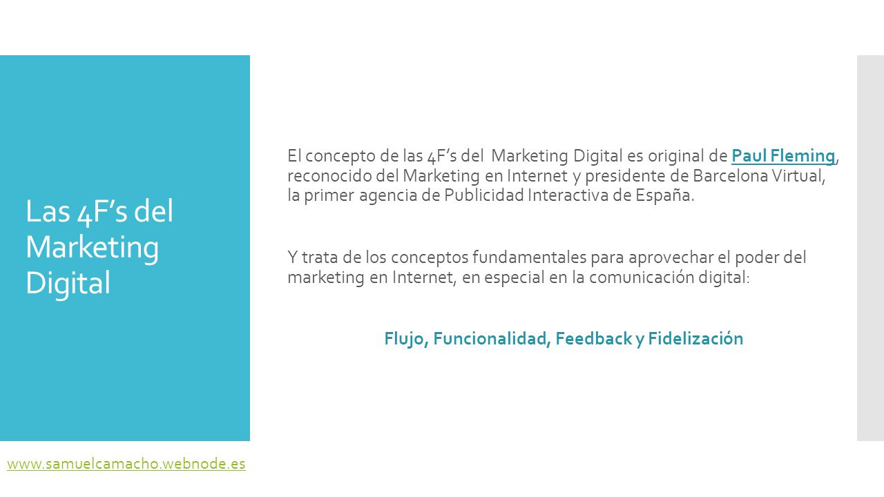Las 4F's del Marketing Digital