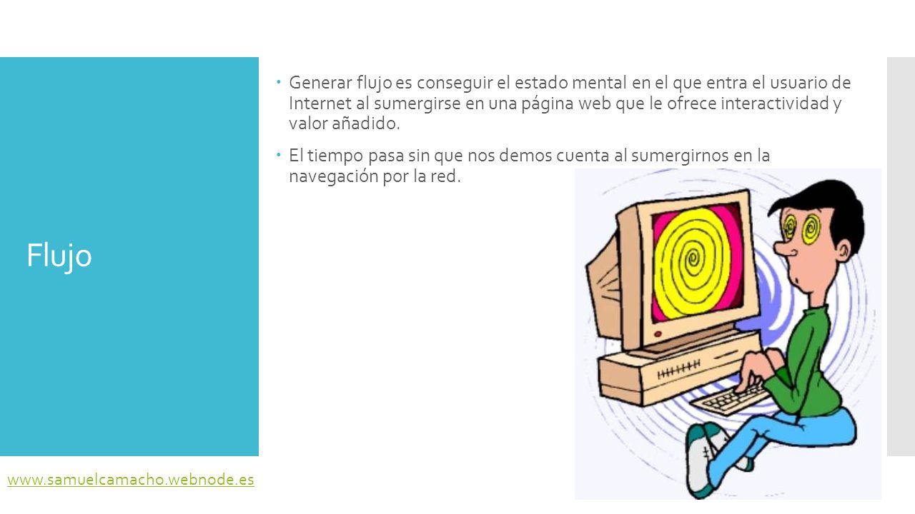 Generar flujo es conseguir el estado mental en el que entra el usuario de Internet al sumergirse en una página web que le ofrece interactividad y valor añadido.