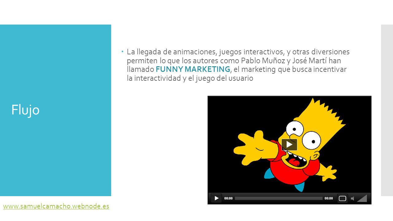 La llegada de animaciones, juegos interactivos, y otras diversiones permiten lo que los autores como Pablo Muñoz y José Martí han llamado FUNNY MARKETING, el marketing que busca incentivar la interactividad y el juego del usuario