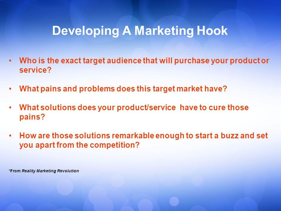 Developing A Marketing Hook