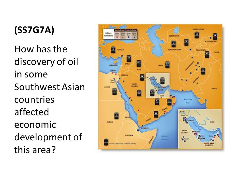 (SS7G7A) How has the discovery of oil in some Southwest Asian countries affected economic development of this area
