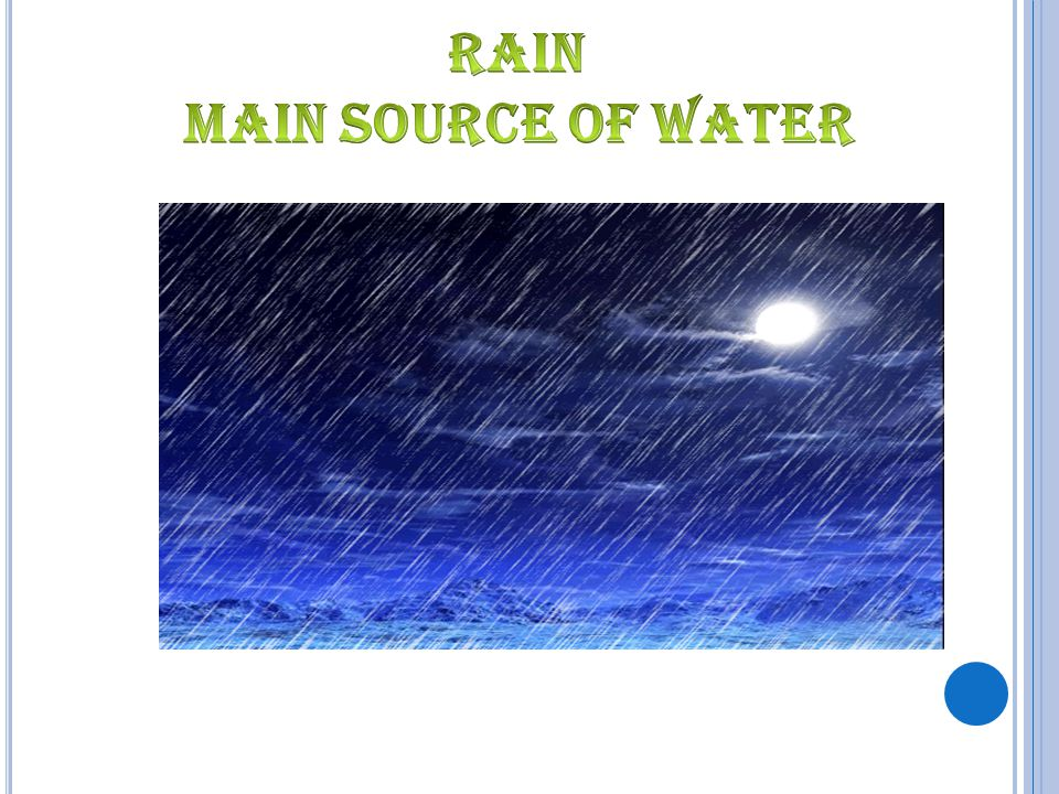 rain main Source Of water