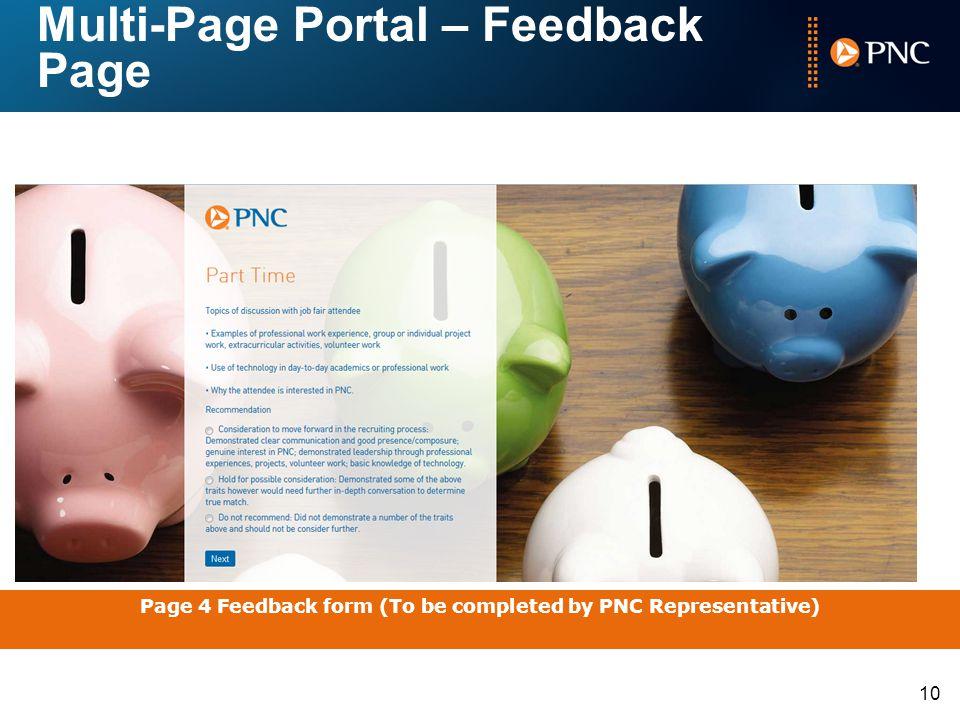Multi-Page Portal – Feedback Page