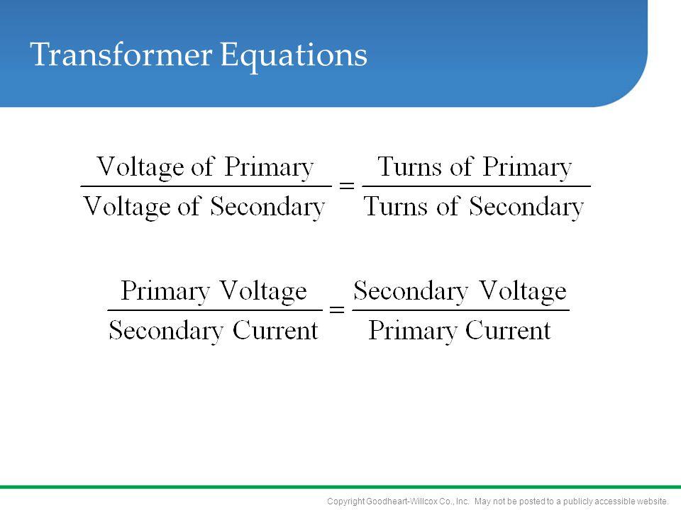 Transformer Equations