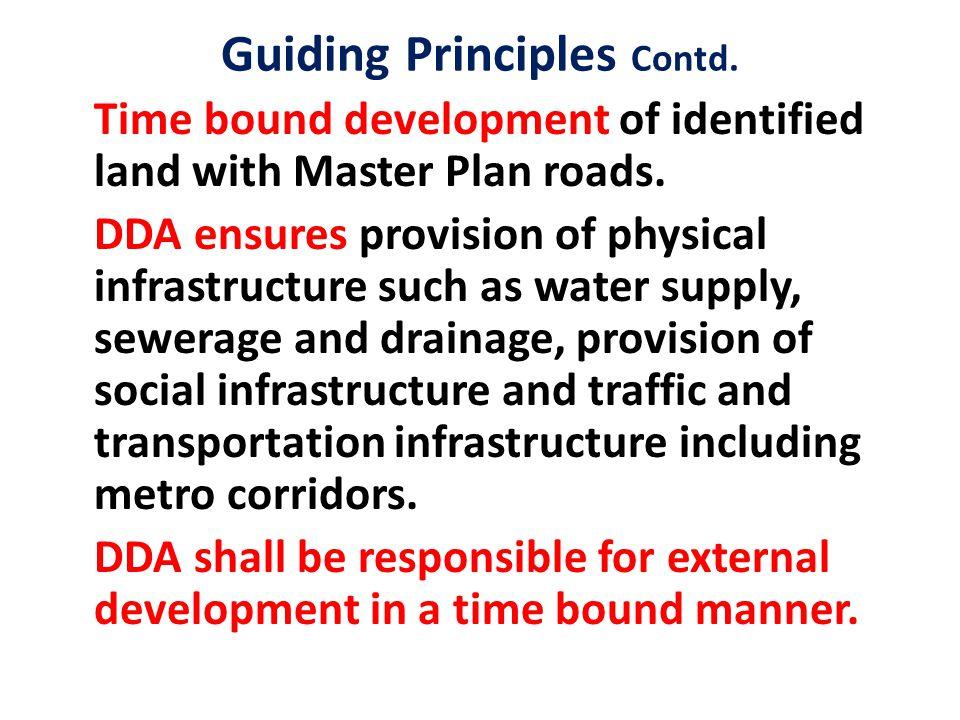 Guiding Principles Contd.